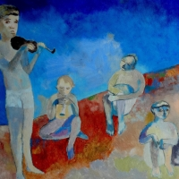 Dziecięca orkiestra. Olej, 70/40 cm