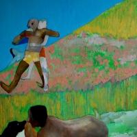 Dzien dobry Panie Gauguin, 130/100 cm,olej