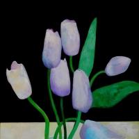 Tulipany, 100/70 cm,płótno olej